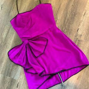 💜 JuJu Costa Purple Silk Halter Dress - 6 💜